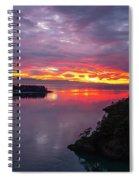 Deception Pass Sunset Landscape Spiral Notebook
