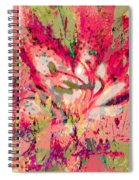 Decomposed Pink Lily  Spiral Notebook