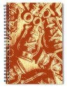 Decoratively Historic Spiral Notebook
