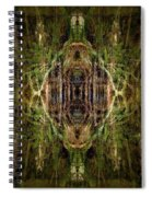 Deep Jungle Temple With Lanterns Spiral Notebook