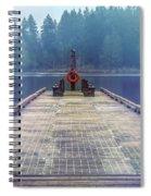 Deep Lake Dock  Spiral Notebook