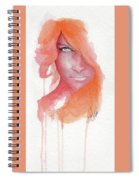 Deep Orange Spiral Notebook