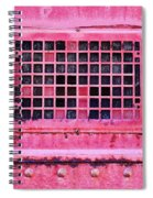 Deep Pink Train Engine Vent Square Format Spiral Notebook