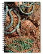 Deep Sea Fishing Nets And Buoys Spiral Notebook