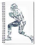 Deion Sanders Dallas Cowboys  Pixel Art 5 Spiral Notebook
