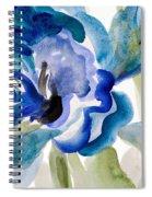 Delicate Blue Square I    Spiral Notebook
