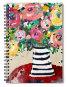 Delightful Bouquet 5- Art By Linda Woods Spiral Notebook