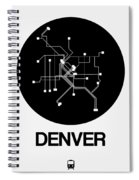 Denver Black Subway Map Spiral Notebook