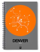 Denver Orange Subway Map Spiral Notebook