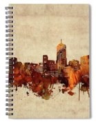 Denver Skyline Sepia Spiral Notebook