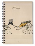 Design For Cabriolet Or Victoria, No. 3221 Brewster And Co. American, New York Spiral Notebook