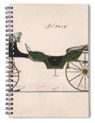 Design For Cabriolet Or Victoria, No. 3459  1875 Spiral Notebook