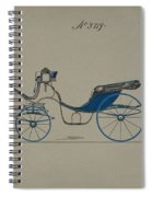 Design For Cabriolet Or Victoria, No. 3719 Brewster And Co. American, New York Spiral Notebook