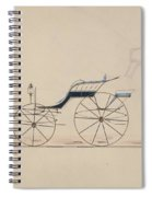 Design For Driving Phaeton Unnumbered Brewster And Co. American, New York Spiral Notebook