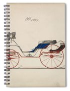 Design For Eight Spring Victoria, No. 1056 Brewster And Co. American, New York Spiral Notebook