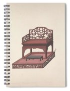 Design For Export Furniture  Anonymous, Chinese, 19th Century Spiral Notebook
