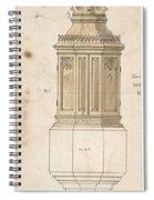 Design For Font Cover Ernest Geldart British, Londn 1848-1929 Spiral Notebook