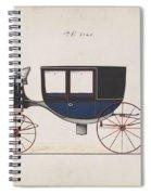 Design For Glass Panel Coach, No. 3133  1875 Spiral Notebook