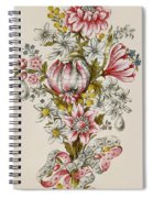 Design For Sprays Of Flowers Spiral Notebook