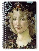Detail From The Primavera, Circa 1478, Tempera On Panel Spiral Notebook