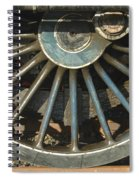 Detail Of Locomotive Wheel With Spokes Spiral Notebook