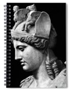 Detail Of The Face Of Athena Farnese Spiral Notebook