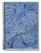 Detroit Map Retro 5 Spiral Notebook