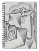Digital Remastered Edition - Houses In Paris, Place Ravignan - Original White Spiral Notebook