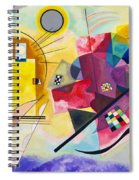 Digital Remastered Edition - Yellow, Red, Blue Spiral Notebook