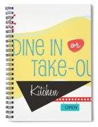 Dine In Kitchen - Art By Linda Woods Spiral Notebook