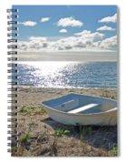 Dinghy On A Sunny Beach Spiral Notebook
