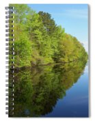 Dismal Swamp Canal In Spring Spiral Notebook