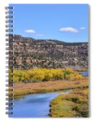 Distant Boat On The San Juan River In Fall Spiral Notebook