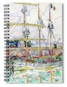 Docks At Saint Malo - Digital Remastered Edition Spiral Notebook