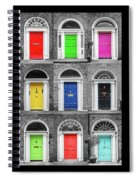 Doors Of Dublin - Vertical Spiral Notebook