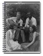 Doris Ulmann   1882-1934  Four Musicians Including A Man Playing A Guitar, A Man Playing A Violin Spiral Notebook