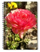 Double Coloured Rose Spiral Notebook