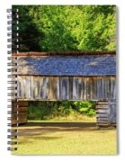 Double Crib Barn In Cades Cove In Smoky Mountains National Park Spiral Notebook