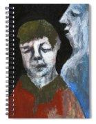 Double Portrait On Black Spiral Notebook