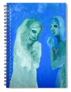 Double Portrait On Blue Sky Spiral Notebook