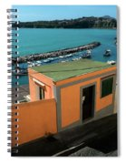 Downhill To The Harbour Spiral Notebook