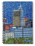 Downtown Raleigh - City At Night Spiral Notebook