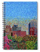Downtown Raleigh - October Sunset Spiral Notebook