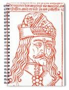Dracula Or Vlad Tepes, 1491 Woodcut Spiral Notebook