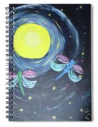 Dragonflies And Moonlight Spiral Notebook