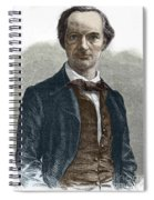 Drawing Of Charles Baudelaire Spiral Notebook