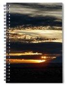 Dual Sunstars At Nipple Bench Sunrise Spiral Notebook
