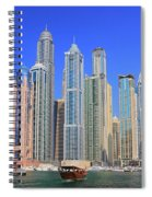 Dubai Marina Dubai Uae Spiral Notebook