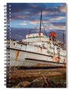 Duke Of Lancaster Ship Spiral Notebook
