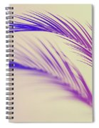 Duotone Background Of Tropical Palm Leaves Spiral Notebook